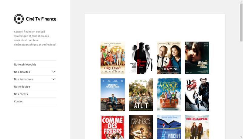 Capture d'écran du site de Cine Tv Finance