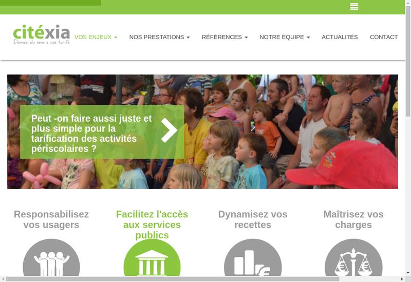 Capture d'écran du site de Citexia