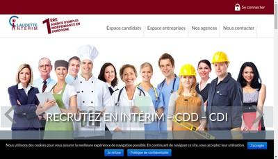 Site internet de Claudette Interim Bergerac