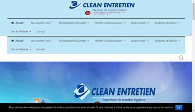 Site internet de Clean Entretien