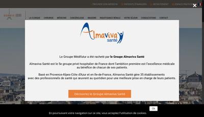 Site internet de Clinique de l'Alma