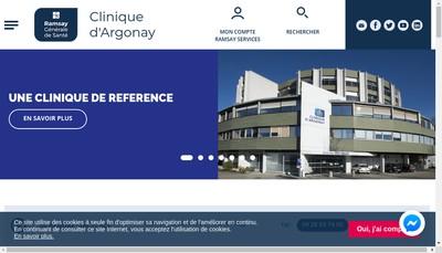 Site internet de Clinique d'Argonay