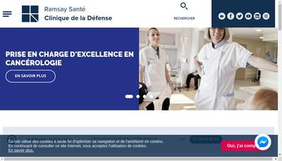 Site internet de Clinique de la Defense