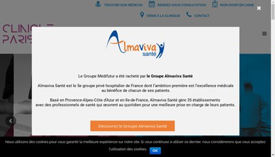 Site internet de Clinique Paris Lilas