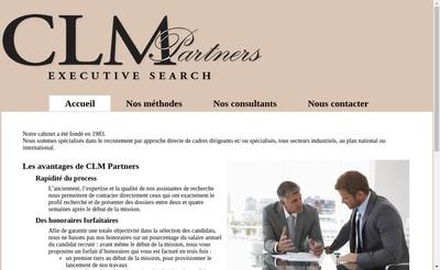 Site internet de Clm Partners