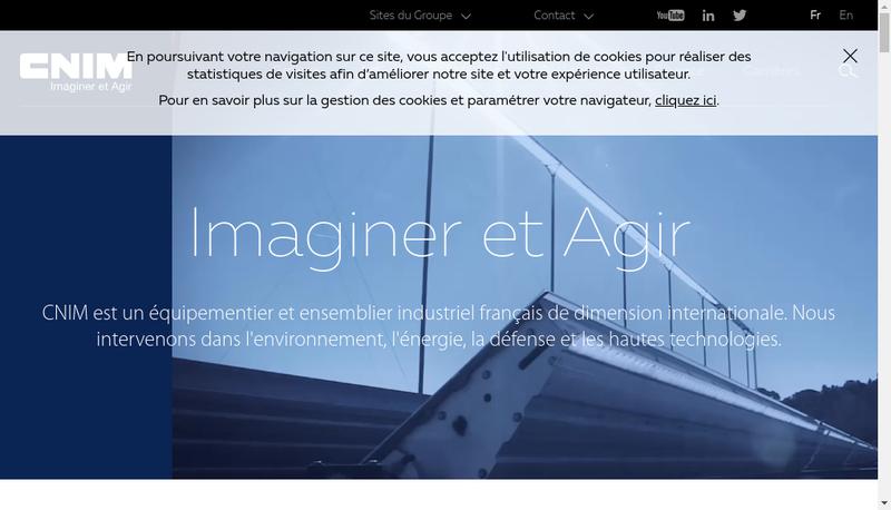 Capture d'écran du site de Cnim Transport France