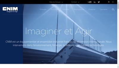 Site internet de Cnim Transport France