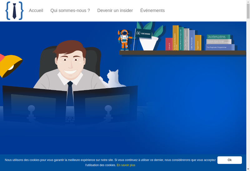 Capture d'écran du site de Code Insider