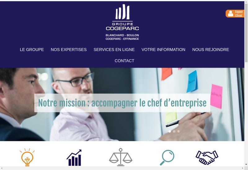 Capture d'écran du site de Cogeparc