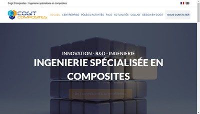 Site internet de Cogit Composites