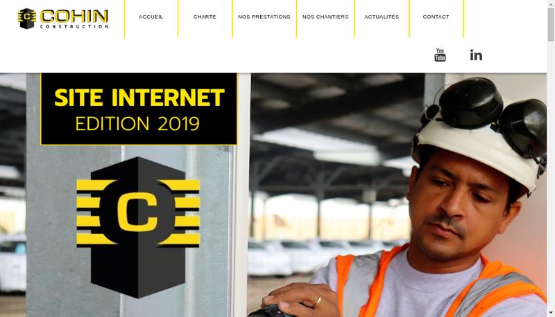 Capture d'écran du site de Cohin Construction