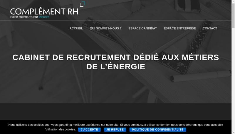 Capture d'écran du site de Complement Rh