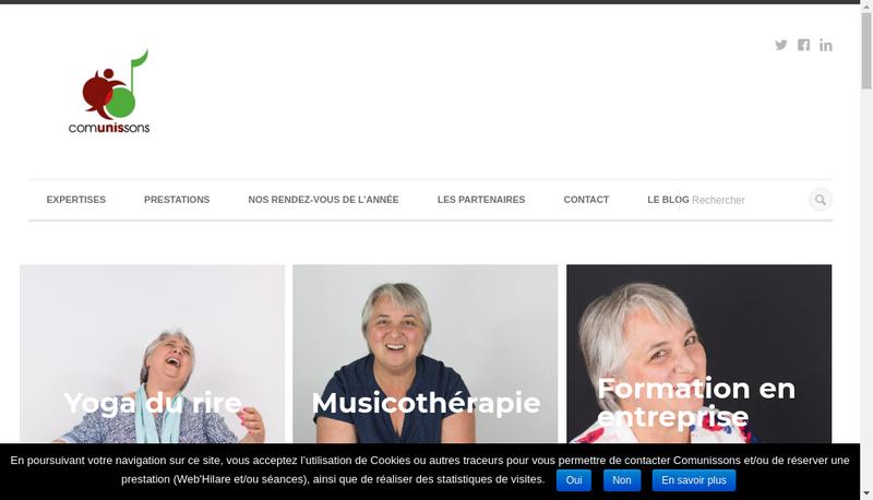 Capture d'écran du site de Comunissons