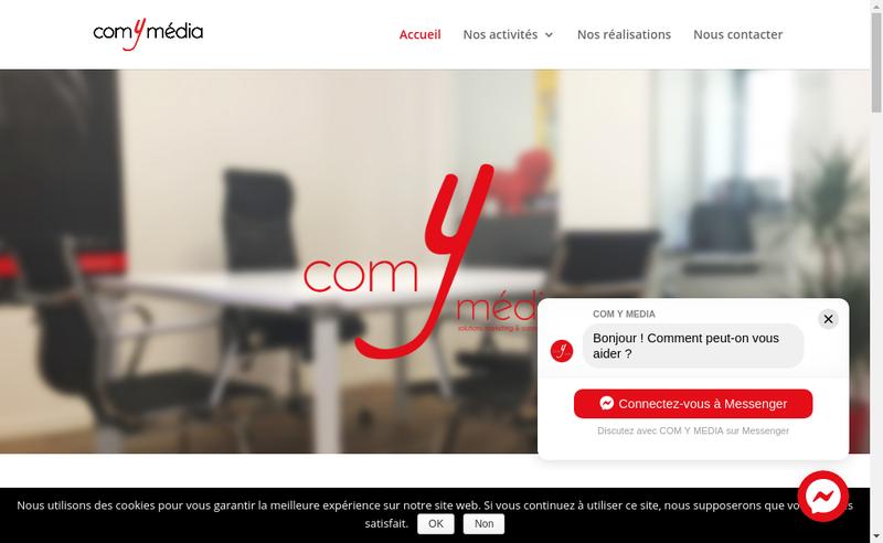 Capture d'écran du site de Com Y Media