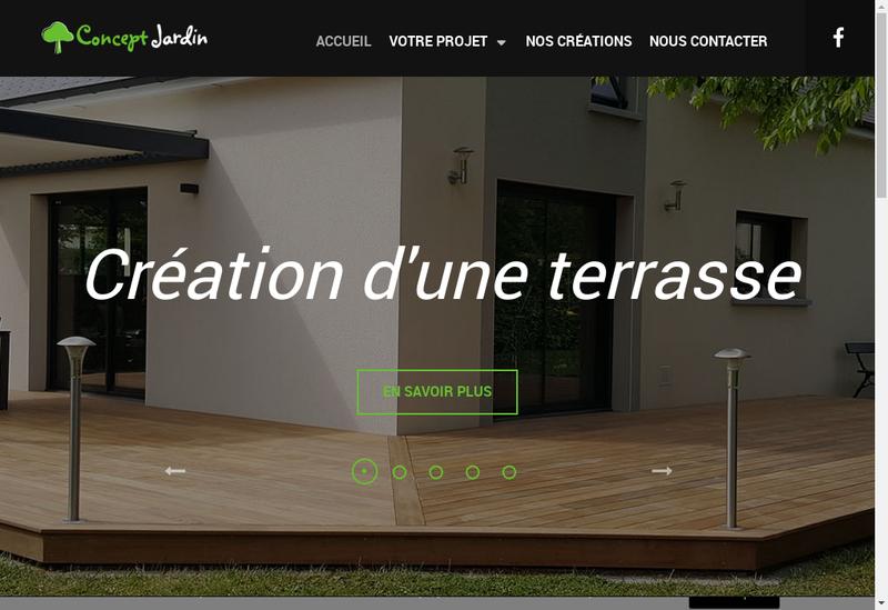 Capture d'écran du site de Concept Jardin