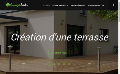 Site internet de Concept Jardin