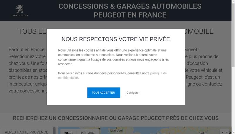 Capture d'écran du site de Morance Brive