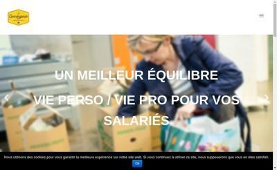 Site internet de La Conciergerie Solidaire