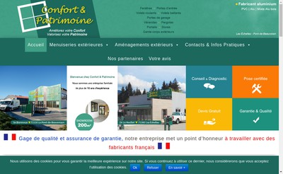 Site internet de Confort et Patrimoine