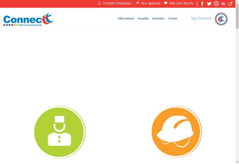 Capture d'écran du site de Connectt Industrie