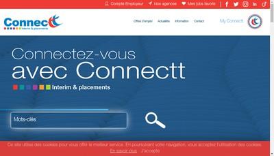 Site internet de Connectt Industrie