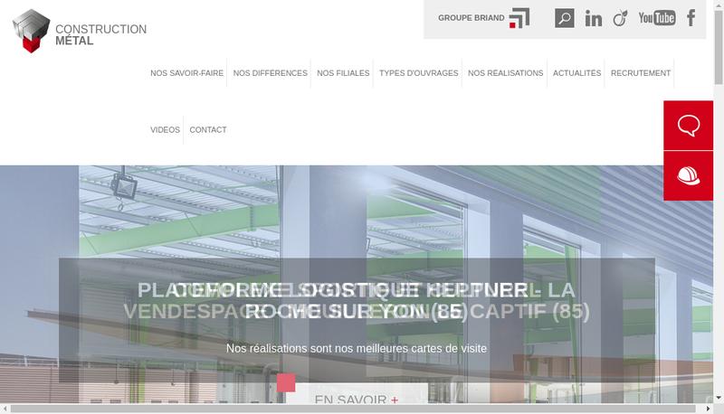 Capture d'écran du site de Alphametal