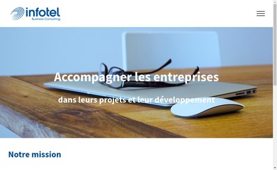 Site internet de Infotel Business Consulting