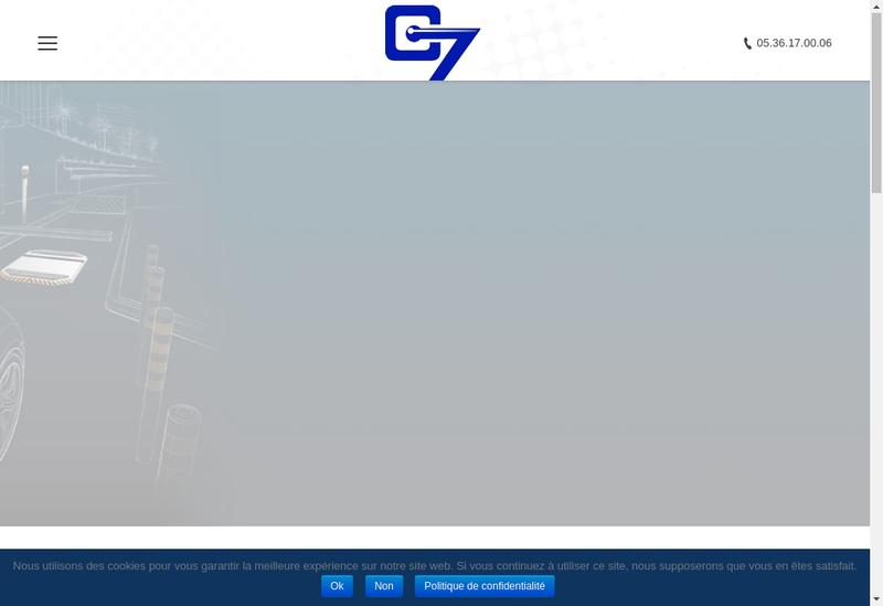 Capture d'écran du site de Control 7