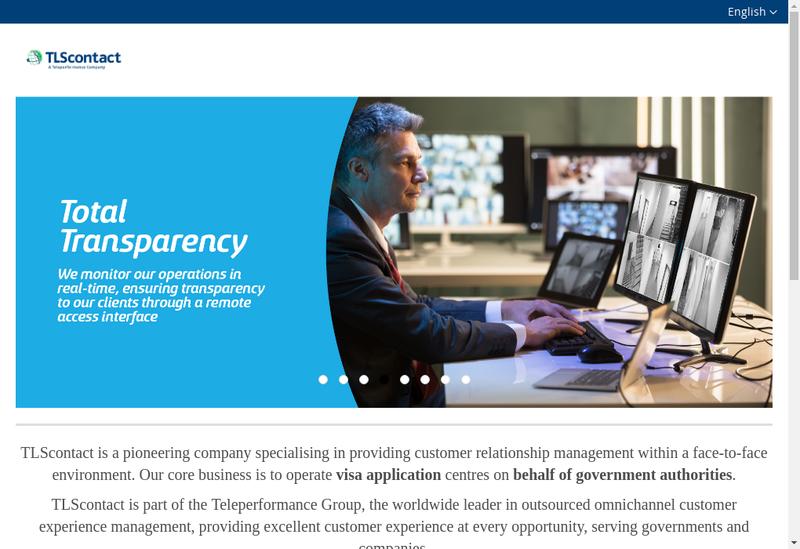 Capture d'écran du site de Tls Contact France