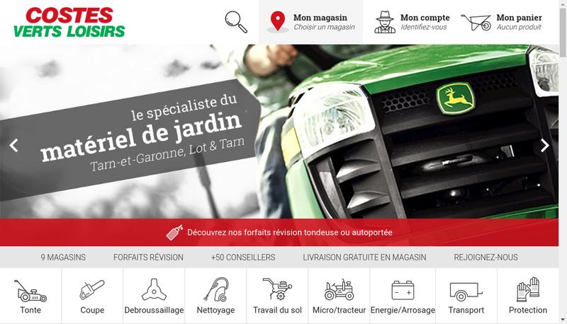 Capture d'écran du site de Castelmotoculture
