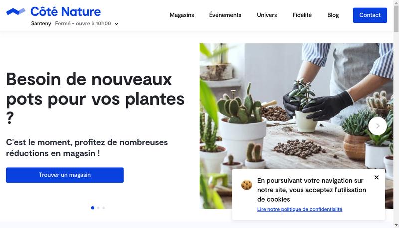 Capture d'écran du site de Cote Nature Santeny