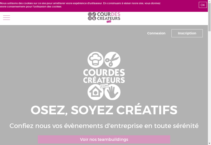 Capture d'écran du site de Cour des Createurs