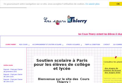 Capture d'écran du site de Cours Thierry
