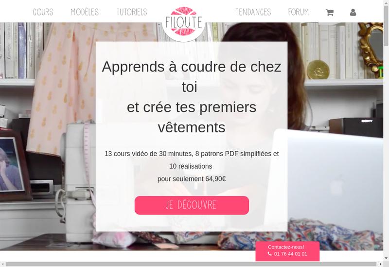 Capture d'écran du site de Filoute