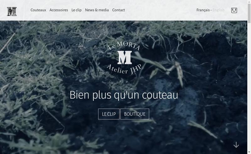 Capture d'écran du site de Couteaux Morta