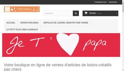 Site internet de Crea-Cadeaux