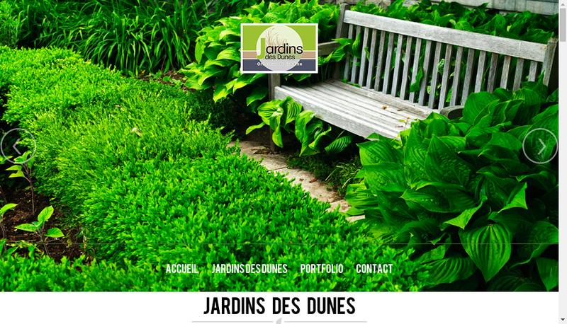 Capture d'écran du site de Jardins des Dunes