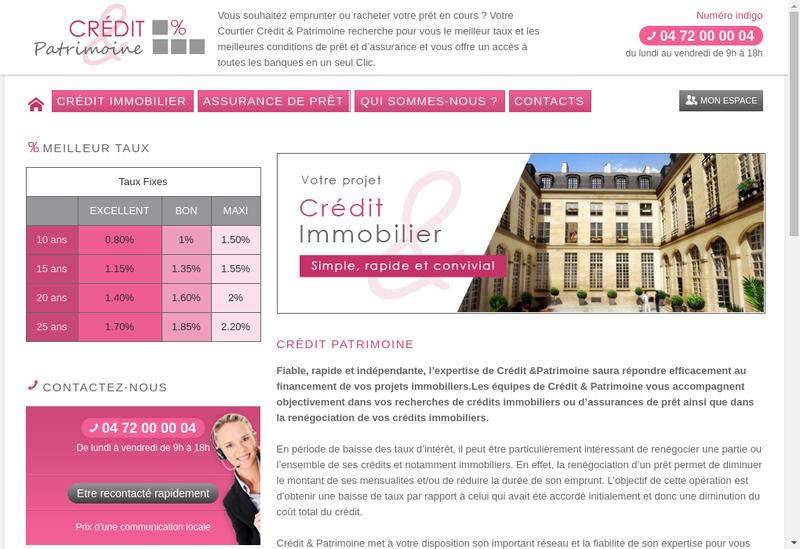 Capture d'écran du site de Credit & Patrimoine