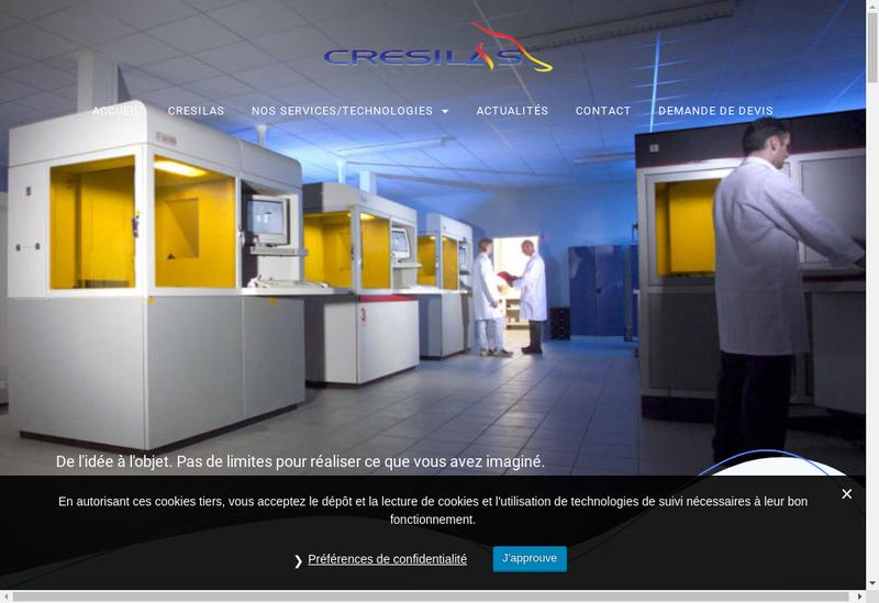 Capture d'écran du site de Cresilas