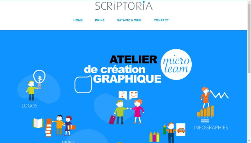 Capture d'écran du site de Scriptoria