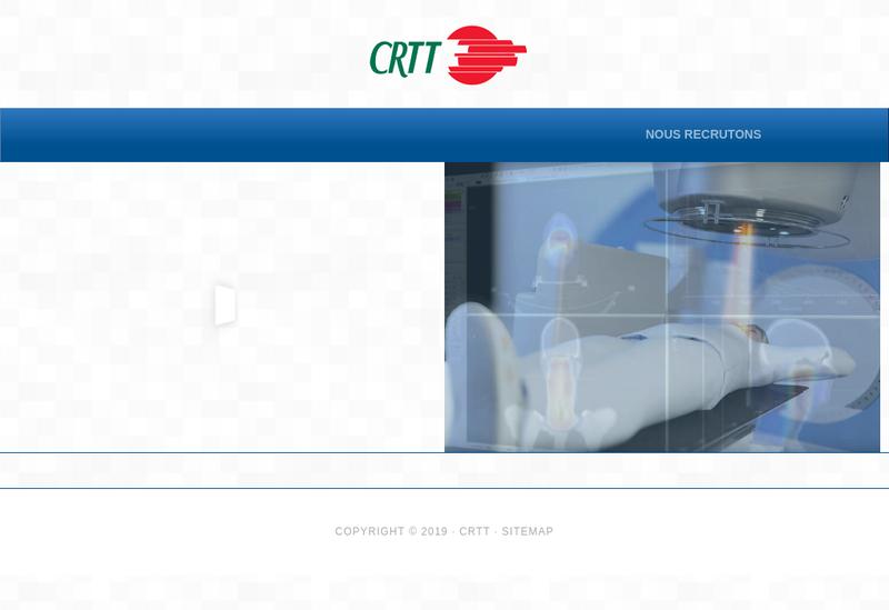 Capture d'écran du site de CRTT