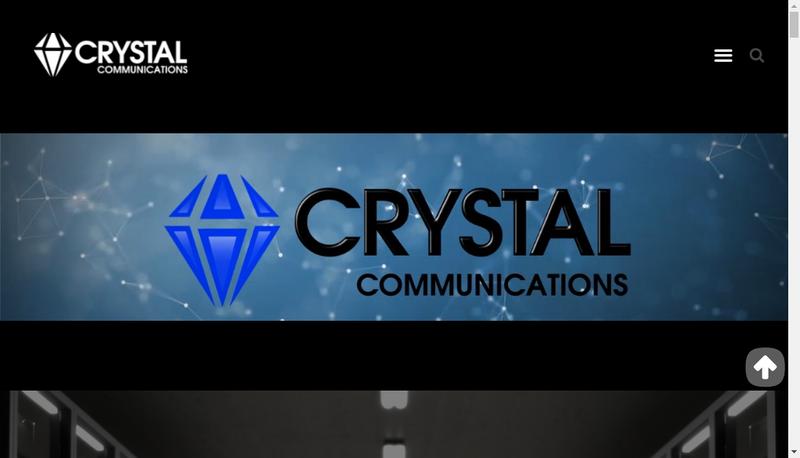 Capture d'écran du site de Cristal Communications