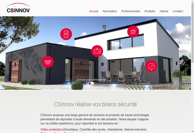 Capture d'écran du site de Cs Innov