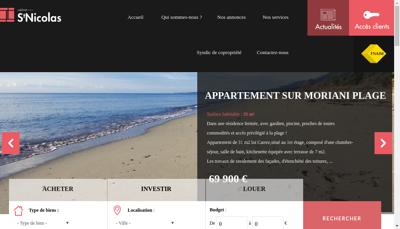 Capture d'écran du site de Secic Syndic