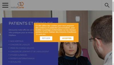 Site internet de Institut Curie