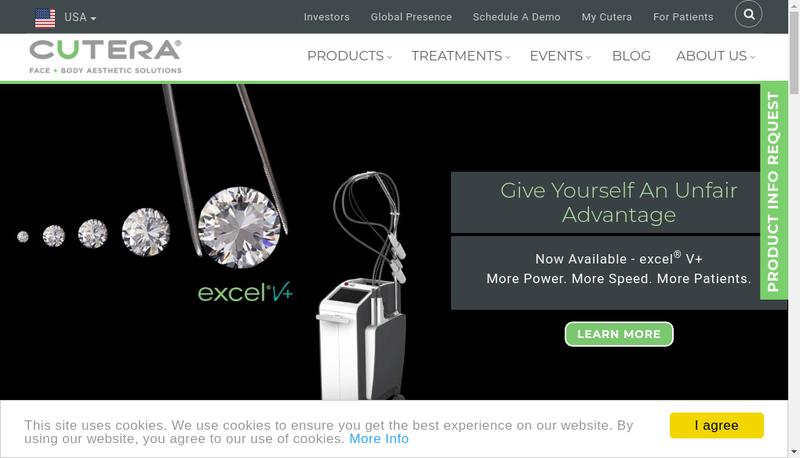 Capture d'écran du site de Cutera France SARL