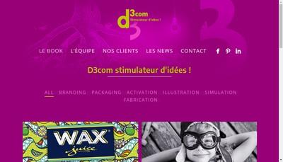 Site internet de D3Com Design D3Com Production D3Com Pari