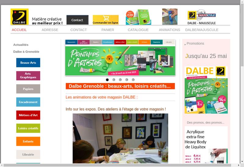 Capture d'écran du site de Grenoble Dessin