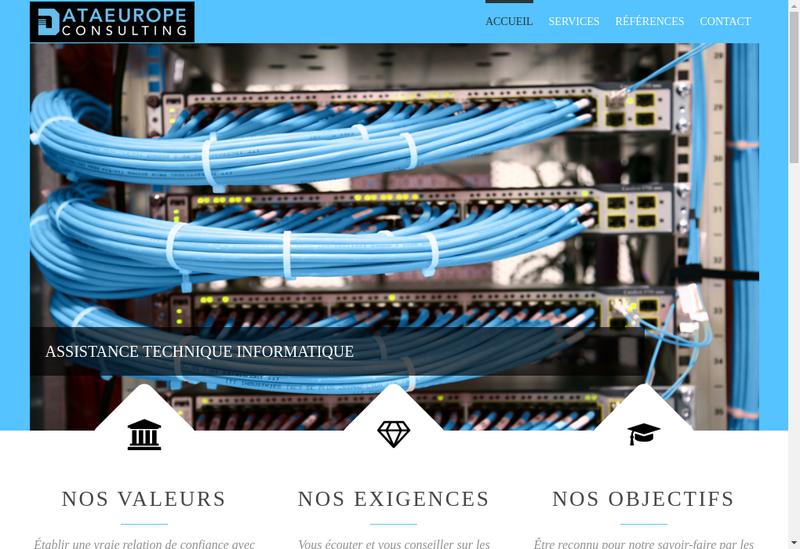 Capture d'écran du site de Dataeurope Consulting