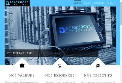 Site internet de Dataeurope Consulting